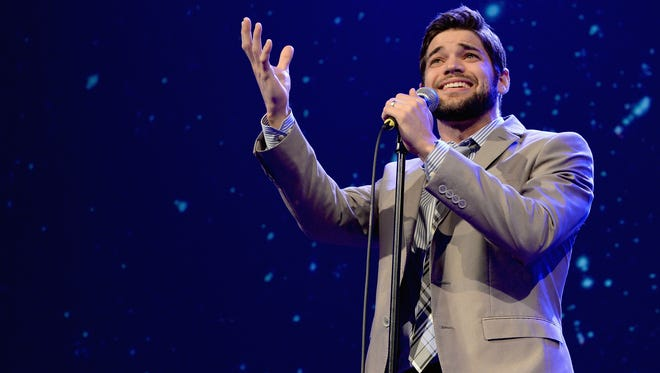 "Jeremy Jordan performs onstage at the Trevor Project's 2014 ""TrevorLIVE NY"" Event at the Marriott Marquis Hotel on June 16, 2014, in New York City."