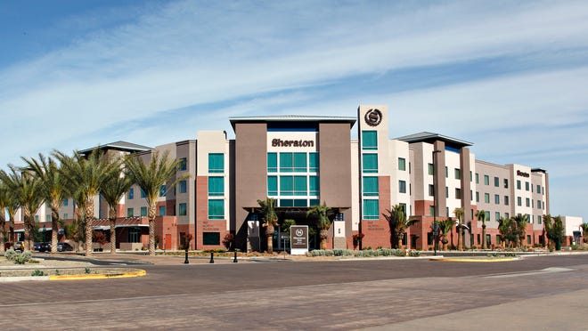 Starwood has opened its first property in Mesa and sixth in metro Phoenix. The Sheraton Mesa Hotel at Wrigleyville West has 180 guestrooms, 51 junior suites, and eight VIP Suites. It features a resort style pool with a swim up bar, three restaurants and meeting spaces.