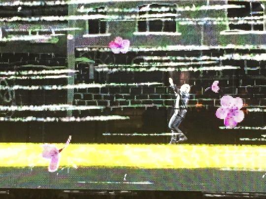 U2's dazzling LED screen at San Jose show.