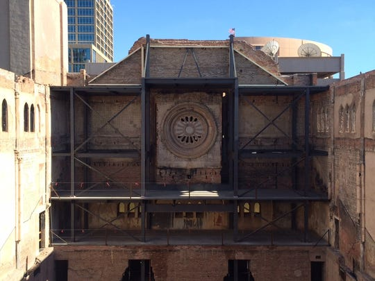 Renovations underway at the First Baptist Church in downtown Phoenix.