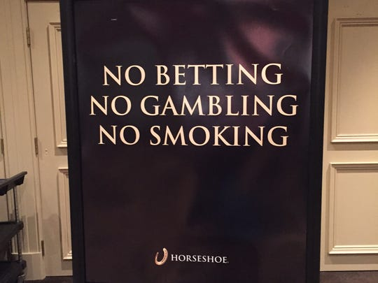 The best players are in the Tournament Room, but the best action is upstairs, inside a door guarded by a  security official, next to a sign that warns: No betting, no gambling, no smoking.  Derby City Classic billiards tourney at Horseshoe Casino in Elizabeth, Ind.,