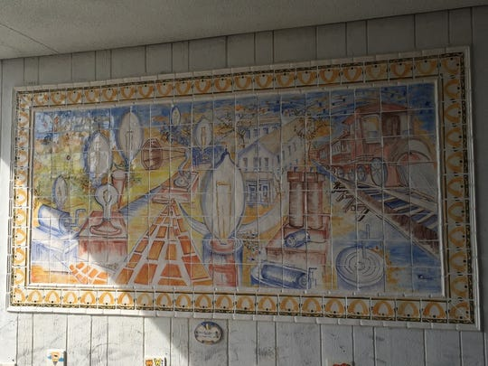 Ceramic murals now greet visitors at the Edison Municipal Complex.