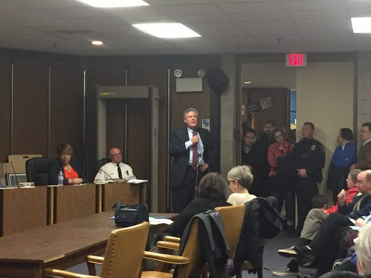 U.S. Rep. Frank Pallone Jr. discussed President Donald Trump's recent plans for deportation of immigrants at Tuesday's Highland Park Borough Council meeting.