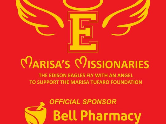 Design of back of shirt that Edison High School participants will be wearing for the Race to Outrun Hunger