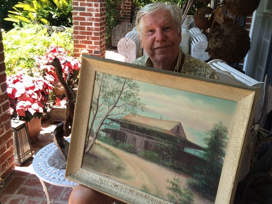 Harry Hurst, shown at his home in Vero Beach, treasures