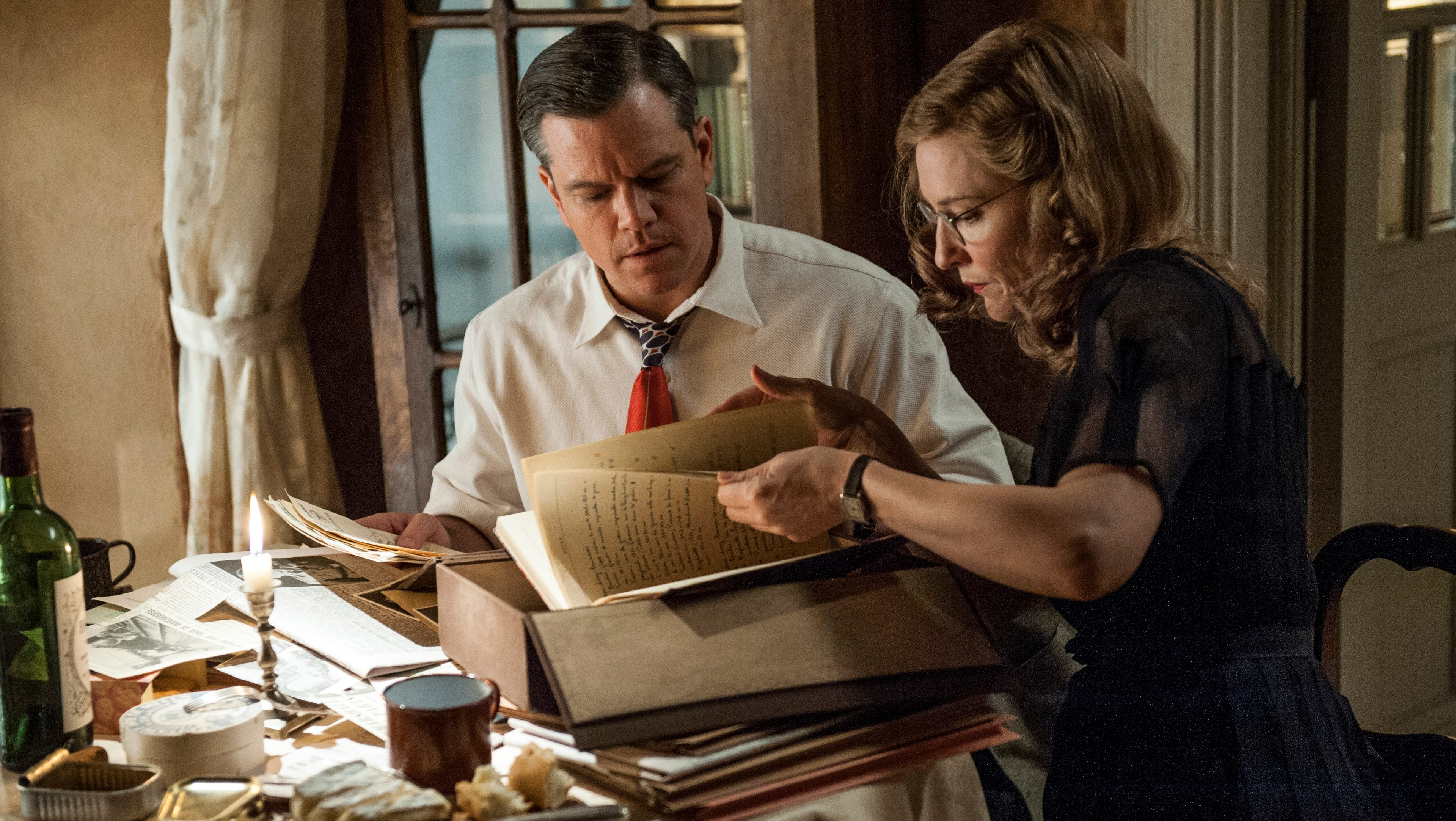 """Matt Damon and Cate Blanchett star in 'The Monuments Men.' """"It's great having an ensemble cast,"""" says producer Grant Heslov. """"Everyone can relax and just have fun."""""""
