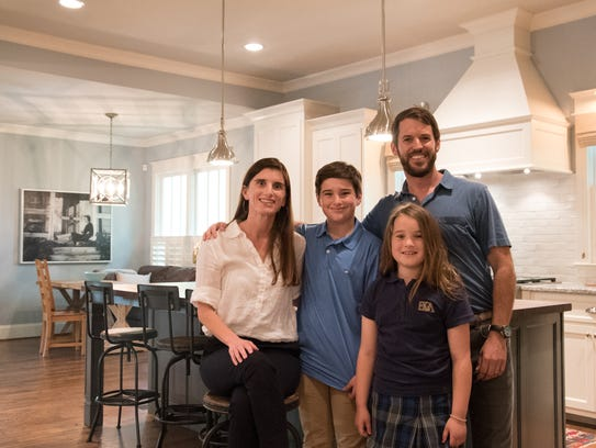 Andy Ferguson and family in their Franklin home.