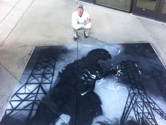 Chalk artist Dana Cohn will be the featured artist