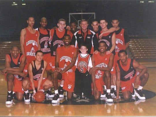 Young Ryan Dant got to meet the Louisville basketball