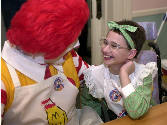 Ronald McDonald shares a few laughs with guest Gypsy