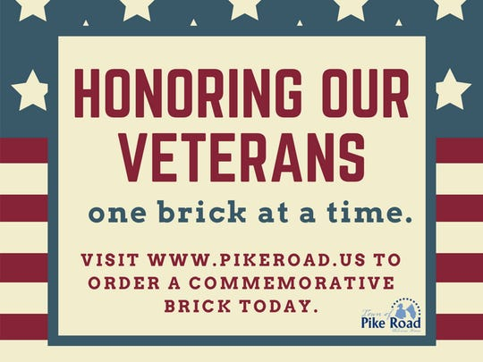 The veterans brick order form must be returned by Sept. 26, to be included in the 2017 program.