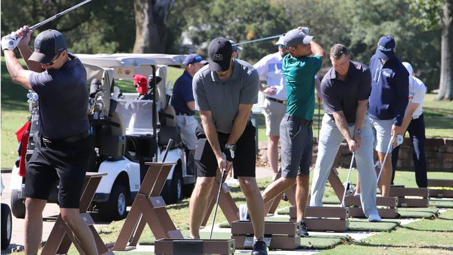 Logan County will have a golf tournament July 10 at Little Creek Golf Course in Ratcliff to raise money for the Single Parent Scholarship Fund. This photo shows golfers in October at a Fort Smith golf course.