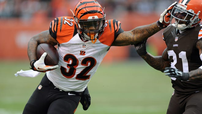 Since Week 8, no one has rushed for more yards than Bengals RB Jeremy Hill.