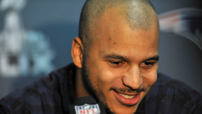Jan 25, 2015: Seattle Seahawks wide receiver Jermaine Kearse fields and answers questions during at press conference at the Arizona Grand Hotel in preparation for Super Bowl XLIX. at Arizona Grand Hotel.