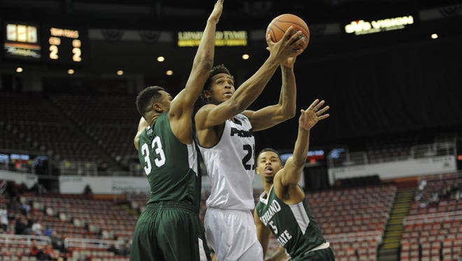 UWGB forward Jamar Hurdle scored 12 points to help lead the Phoenix to a win over Cleveland State on Saturday in the opening round of the Horizon League tournament in Detroit.
