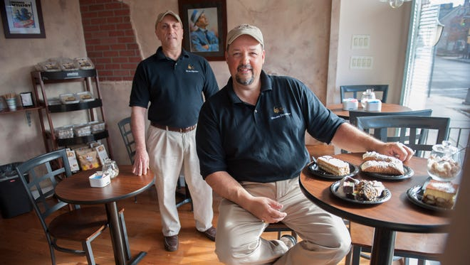 Mike Paletta (left) and John Caiola are longtime friends and owners of Gelato Dolceria in Haddonfield. The two get pleasure out of spending time with customers, bringing a little bit of Italy to South Jersey.