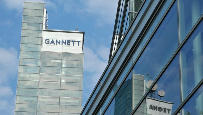 Gannett Co., which owns USA TODAY and more than 100 other media properties, said its overall revenue fell 8 percent year-over-year.