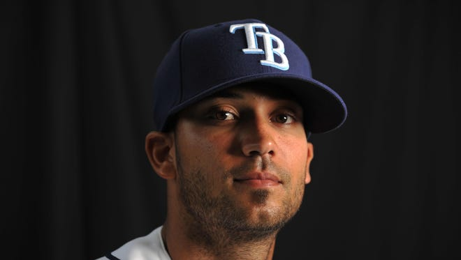 Feb 22, 2011: Tampa Bay Rays relief pitcher Matt Bush (44) during photo day at Charlotte Sports Park.