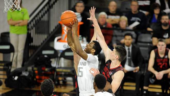 Martez Walker scored 2 of his team-best 19 points. Walker is averaging 19.1 points per game and has reached double figures in 8 of 9 games.
