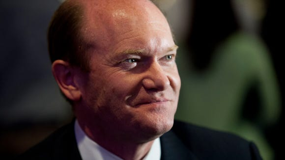 Sen. Chris Coons, D-Del., in Wilmington, Del., on Nov.