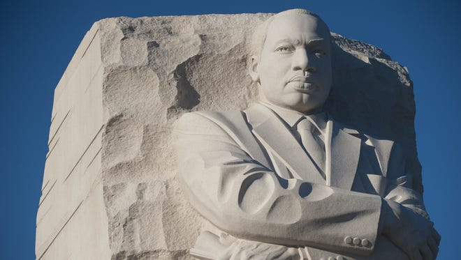 Martin Luther King Jr. is honored with a memorial on the National Mall in Washington D.C. Monday would have been King's 88th birthday.