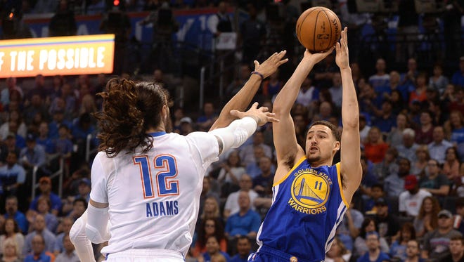 Klay Thompson scored a game-high 34 points for the Warriors.