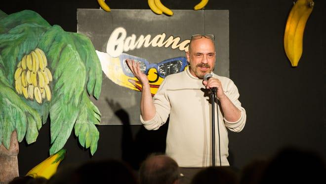 Columnist Bill Ervolino performing at Bananas Comedy Club in Hasbrouck Heights.
