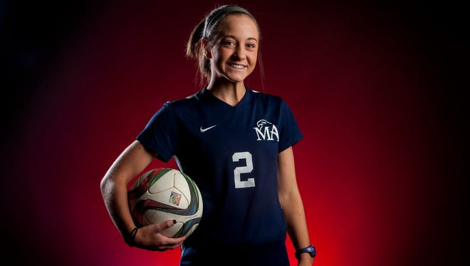 Montgomery Advertiser All-Metro Girls Soccer Player of the Year Tara Katz, of Montgomery Academy, in Montgomery, Ala. on Wednesday June 14, 2017.