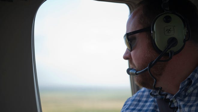 Rep. Matt Caldwell, took an aerial tour of South Florida Water Management District lands March 24, 2017 in central and south Florida.