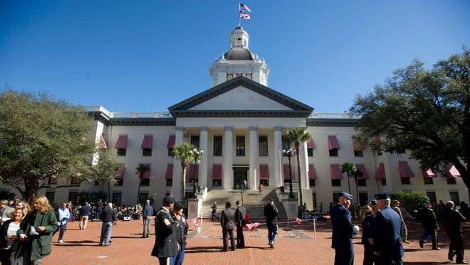 The Florida State Capital building pictured during the first week of the 2016 Florida legislative session in Tallahassee.