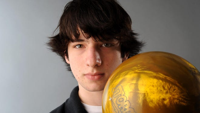 Jake Rollins of Glen Rock High School was the 203-14 boys bowler of the year.