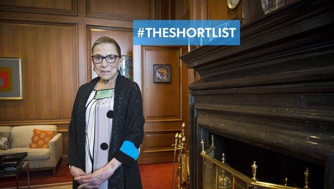 Supreme Court Justice Ruth Bader Ginsburg in her Supreme Court chambers in Washington, D.C.