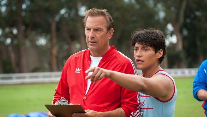 "Kevin Costner and Carlos Pratts in ""McFarland, USA."""