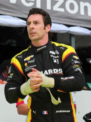 Verizon Indycar points leader Simon Pagenaud during