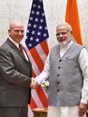 Indian Prime Minister Narendra Modi greets U.S. national