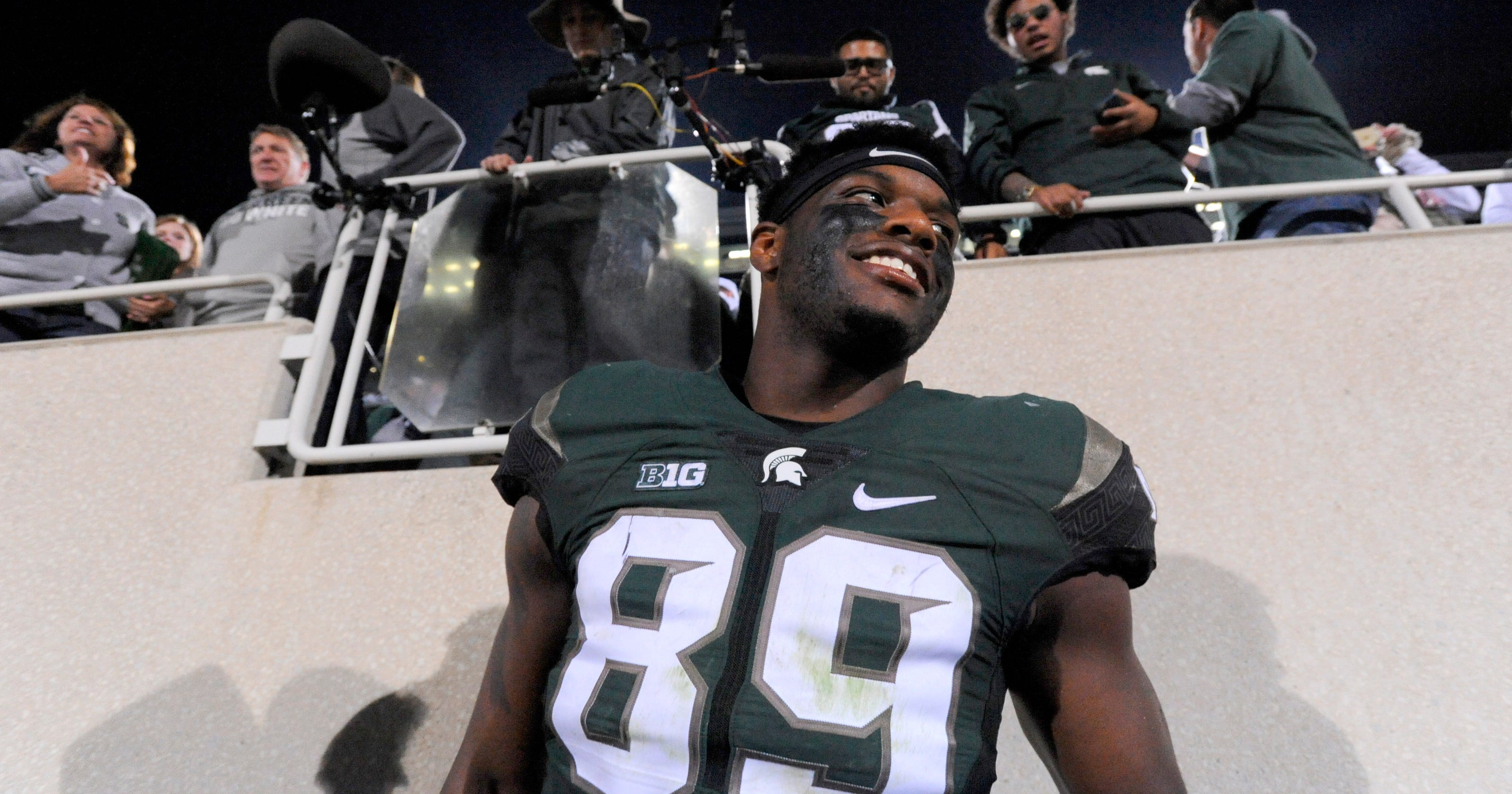 info for 26378 15f2d MSU's Shilique Calhoun is B1G co-Defensive Player of Week
