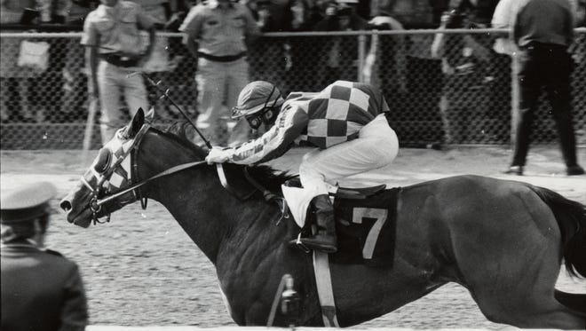 Riva Ridge, winning the 1972 Kentucky Derby, ran in the Haskell later that year.