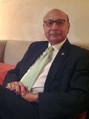 Visiting Dearborn this week to speak to Arab-Americans, Khizr Khan, the Gold Star father who slammed Donald Trump at the Democratic National Convention, said voters should choose American values when deciding this November.