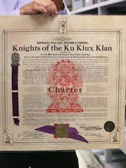 The first Ku Klux Klan charter in the state was issued