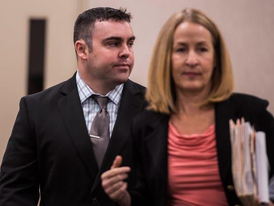 Former Burlington cop Christopher Lopez, 27, of Milton