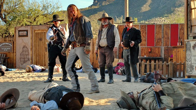 A gunfight reenactment at the annual Wild West Days in Cave Creek. Credit: Wild West Days.