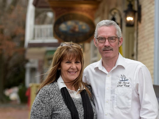 For more than a year, Donna Ignasz and Howard Johnson havebeen renovating three 18th century buildings at Smyrna's Four Corners to house a tavern and upscale restaurant.