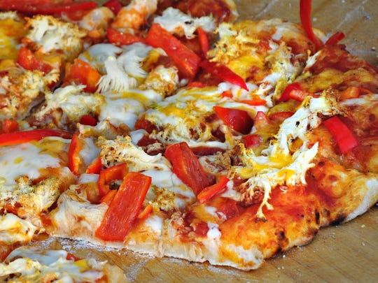 Lion's mane, a type of coral that looks a bit like bean sprouts, made its way onto another pizza.