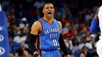 Russell Westbrook's 38th triple-double of the season was a record-setter.
