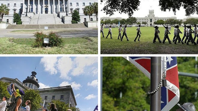 Images from the Greenville News on recent controversies in South Carolina politics.