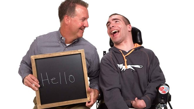 Jon Syndergaard, executive director of Cerebral Palsy, Inc., and Ian.