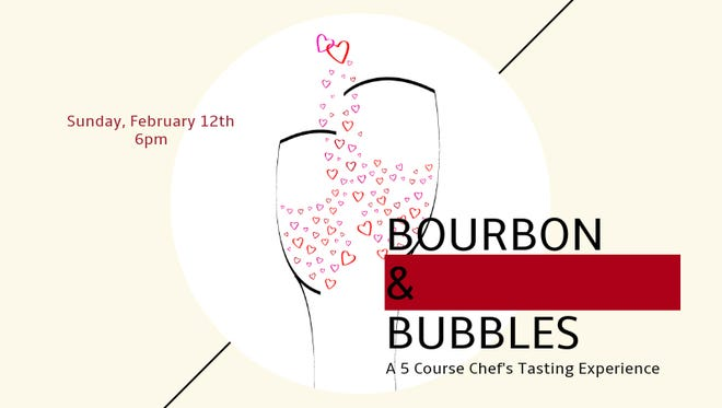 The five-course Bourbon and Bubbles chef's tasting experience is at 6 p.m. Feb. 12 at  Skopelos.