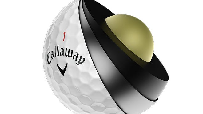 Callaway's new Chrome Soft X golf ball.