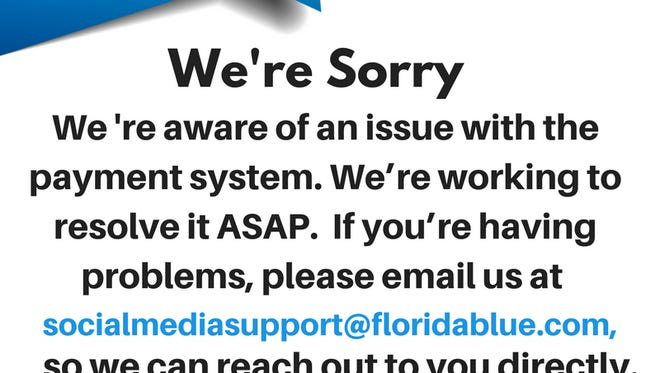 The apology notice on Florida Blue's social media page.