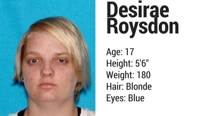 The Tennessee Bureau of Investigation has issued an endangered child alert for 17-year-old Desirae Roysdon.  Roysdon is missing from Scott County, where she was last seen at a relative's residence on June 7th. Roysdon has a medicial condition that compromises her ability to breathe. She does not have her medication with her.